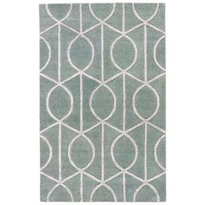 Blondell Blue & Gray Geometric Area Rug Rug Size: Rectangle 96 x 136