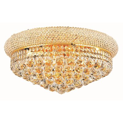 Jessenia 10-Light Flush Mount Finish: Gold, Crystal Grade: Elegant Cut