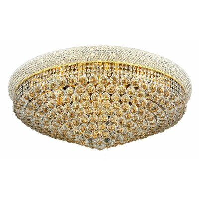 Jessenia 20-Light Flush Mount Finish: Gold, Crystal Grade: Elegant Cut