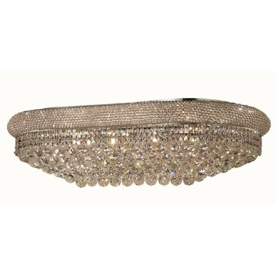 Jessenia 18-Light Flush Mount Finish: Chrome, Crystal Grade: Royal Cut