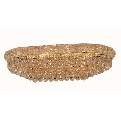 Jessenia 18-Light Flush Mount Finish: Gold, Crystal Grade: Spectra Swarovski