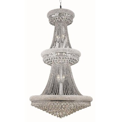 Jessenia Glam 32-Light Chain Crystal Chandelier Size / Finish / Crystal Trim: 36