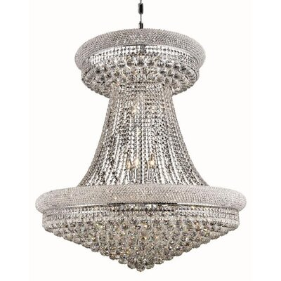 Jessenia Glam 28-Light Empire Chandelier Finish: Chrome, Crystal Trim: Spectra Swarovski