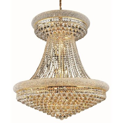 Jessenia Glam 28-Light Empire Chandelier Finish: Gold, Crystal Trim: Strass Swarovski