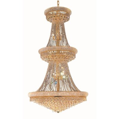 Jessenia Glam 38-Light Crystal Chandelier Finish: Gold, Crystal Trim: Spectra Swarovski