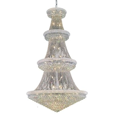 Jessenia 48-Light Chain Crystal Chandelier Finish: Chrome, Crystal Grade: Royal Cut
