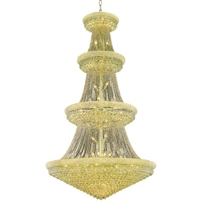 Jessenia 48-Light Chain Crystal Chandelier Finish: Gold, Crystal Grade: Swarovski Elements