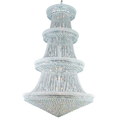 Jessenia 56-Light Crystal Chandelier Finish: Chrome, Crystal Grade: Spectra Swarovski