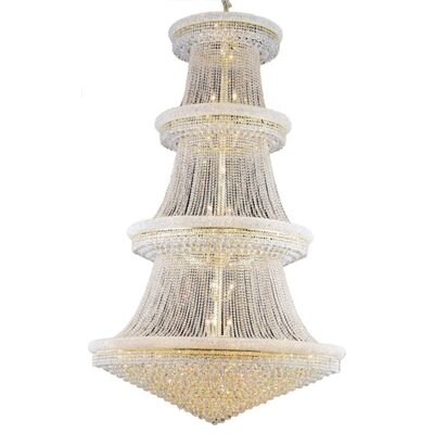 Jessenia 56-Light Crystal Chandelier Finish: Gold, Crystal Grade: Elegant Cut