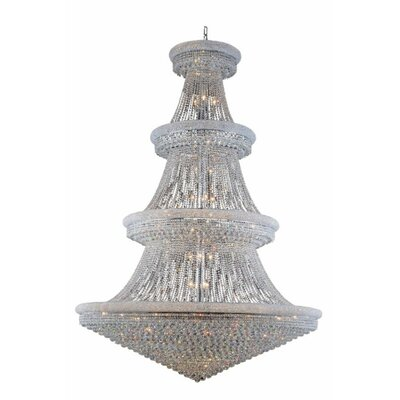 Jessenia 66-Light Chain Crystal Chandelier Finish: Chrome, Crystal Grade: Elegant Cut