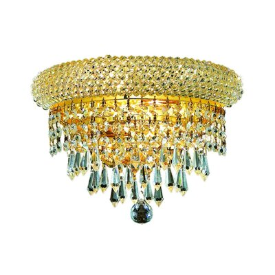 Jessenia 2-Light Crystal Chandelier Finish: Gold, Crystal Trim: Strass Swarovski