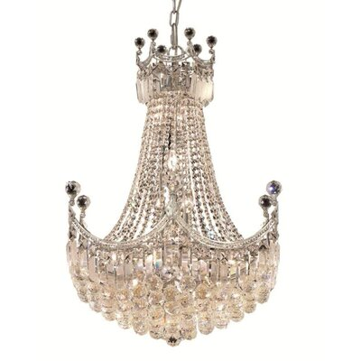 Kasha 18-Light Empire Chandelier Finish: Chrome, Crystal Trim: Spectra Swarovski