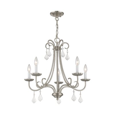 Devan 5-Light Semi Flush Mount Finish: Brushed Nickel