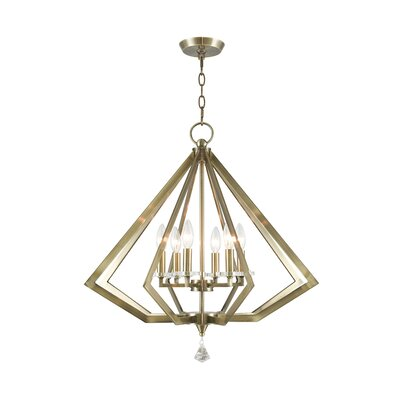 Camacho 6-Light Foyer Pendant Finish: Antique Brass