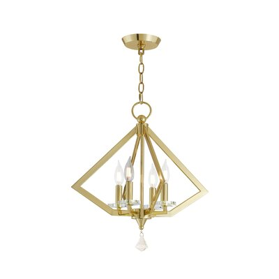 Balham 4-Light Foyer Pendant Finish: Polished Brass