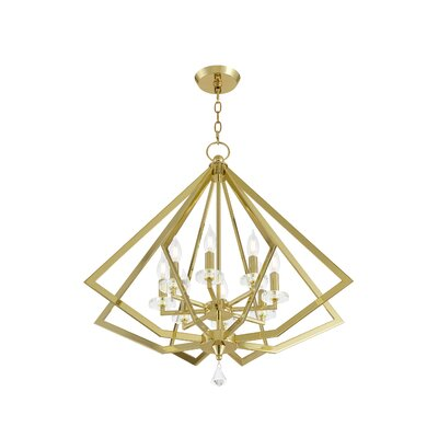 Estee 8-Light Foyer Pendant Finish: Polished Brass