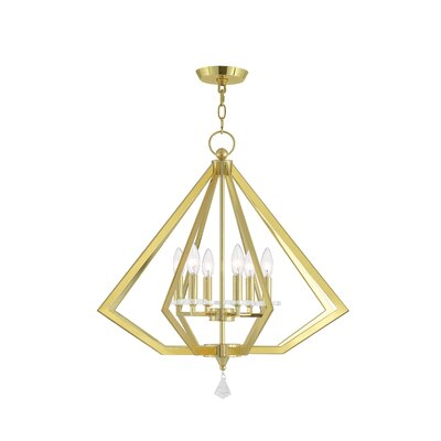 Camacho 6-Light Foyer Pendant Finish: Polished Brass