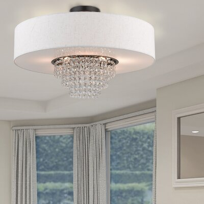 Dor Semi Flush Mount Size: 14.4 H x 22 W