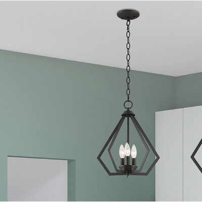 Borasisi 3-Light Foyer Pendant Finish: Bronze