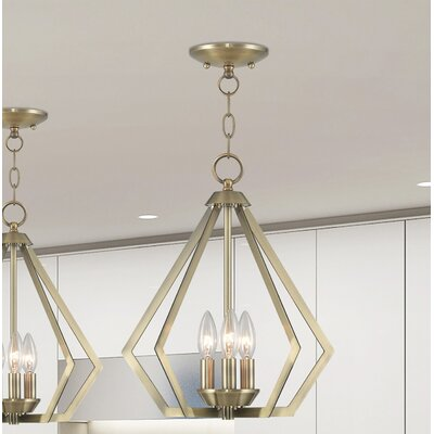 Borasisi 3-Light Foyer Pendant Finish: Antique Brass