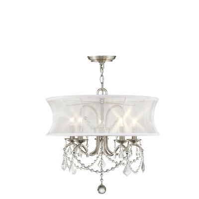 Aubrianne Drum Chandelier Size: 18.5 H x 20 W x 20 D, Finish: Brushed Nickel