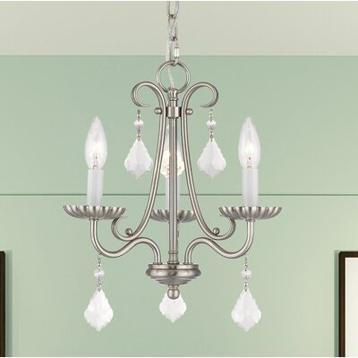 Devan 3-Light Semi Flush Mount Finish: Brushed Nickel
