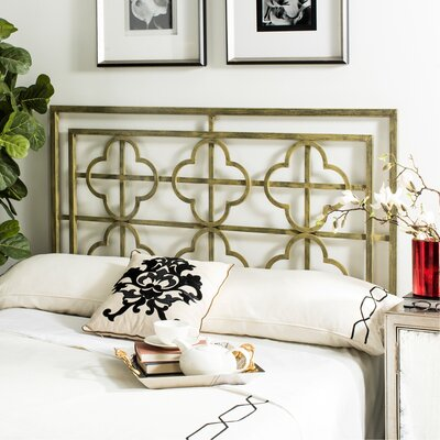 Hyde Open-Frame Headboard Size: Twin, Color: French Silver