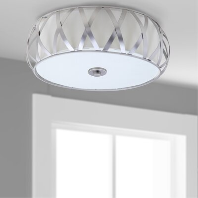 Nil Cross 2 Light Flush Mount Finish: Chrome