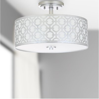 Bindy 3-Light Semi Flush Mount Finish: Silver