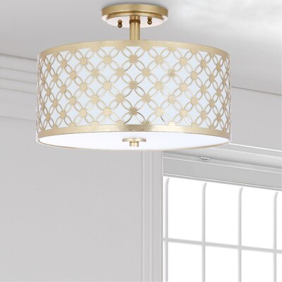 Nielsen 3-Light Semi Flush Mount Finish: Gold