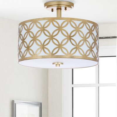 Ogden 3-Light Semi Flush Mount Finish: Gold