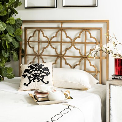 Hyde Open-Frame Headboard Size: Queen, Color: Antique Gold
