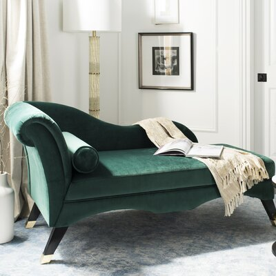 Melania Chaise Lounge Upholstery: Emerald