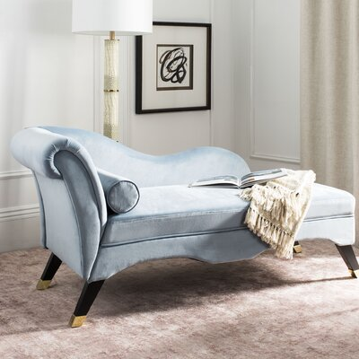 Melania Chaise Lounge Upholstery: Slate Blue