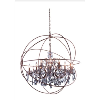 Svante 18-Light Foyer Pendant Finish: Rustic Intent, Crystal: Silver Shade (Grey)