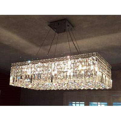 Anjali 16-Light Kitchen Island Pendant Size: 16 H X 32 W X 7.5 D