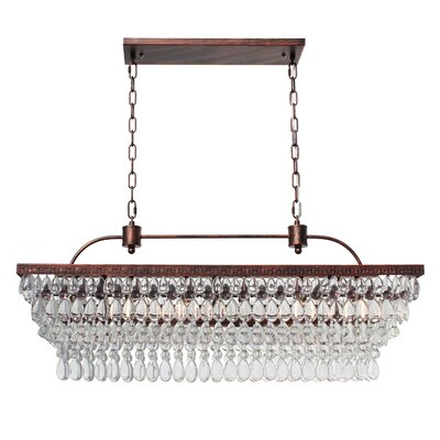 Dix 6-Light LED Crystal Chandelier Finish: Oil Rubbed Bronze