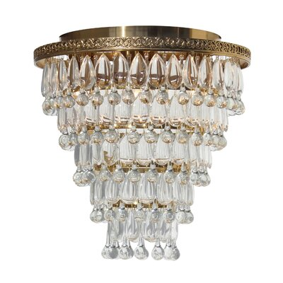 Dix 7-Light Crystal Flush Mount Finish: Brass