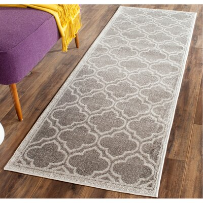 Maritza Gray Outdoor Area Rug Rug Size: Runner 23 x 13