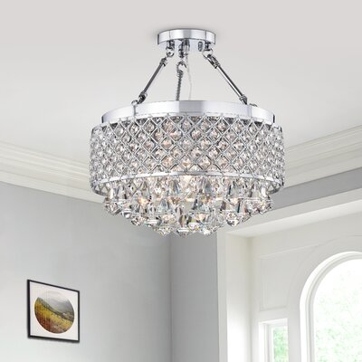 Darcy 4-Light LED Semi Flush Mount