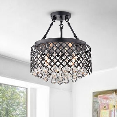 Genevre 4-Light Semi Flush Mount