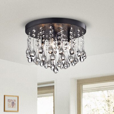 Alya 4-Light LED Flush Mount Finish: Brownish Black