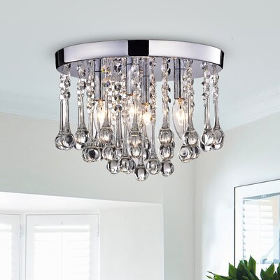 Alya 4-Light LED Flush Mount Finish: Chrome