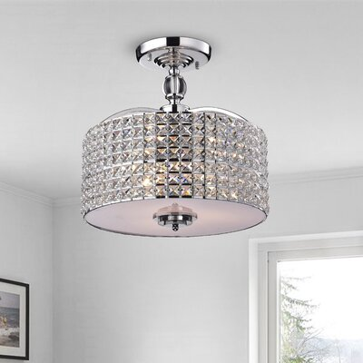 Anay 3-Light Semi Flush Mount Finish: Chrome