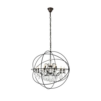 Svante 18-Light Foyer Pendant Finish: Dark Bronze, Crystal: Golden Teak (Smoky)