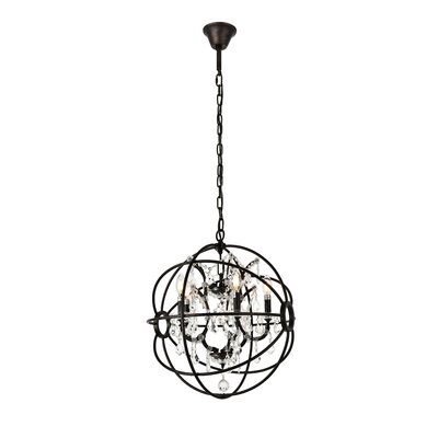 Svante 5-Light Foyer Pendant Finish: Dark Bronze, Crystal: Golden Teak (Smoky)