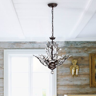 Alijah 4-Light LED Crystal Chandelier