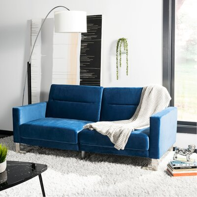 Whitbeck Convertible Sofa Upholstery: Navy/Silver