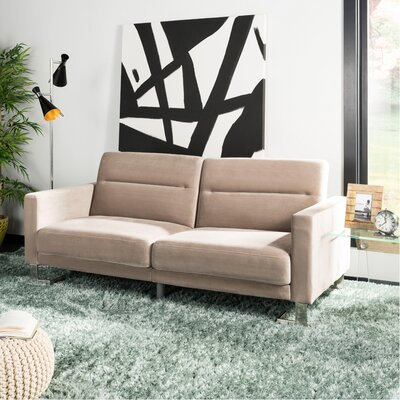 Whitbeck Convertible Sofa Upholstery: Gray/Silver