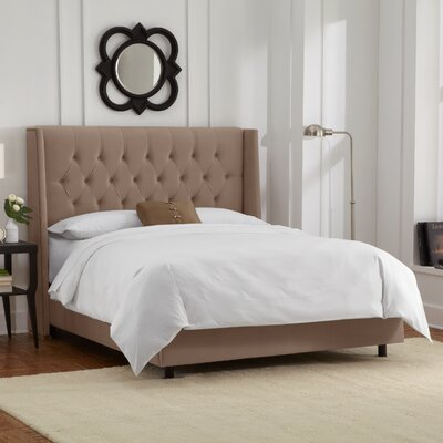 Florine Upholstered Panel Bed Color: Velvet - Cocoa, Size: Queen